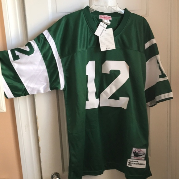 release date 7ca9b 583c1 Joe Namath Mitchell and ness throwback jersey NWT